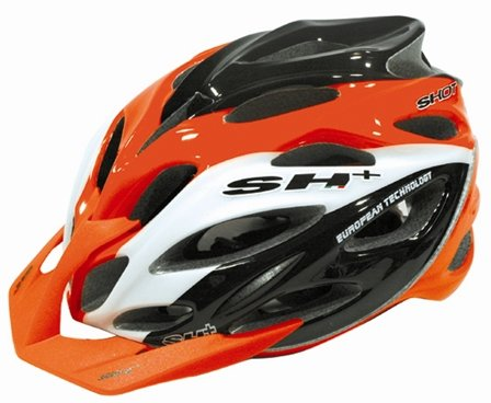 SH Shot XC Bicycle Helmet OrangeWhiteblack