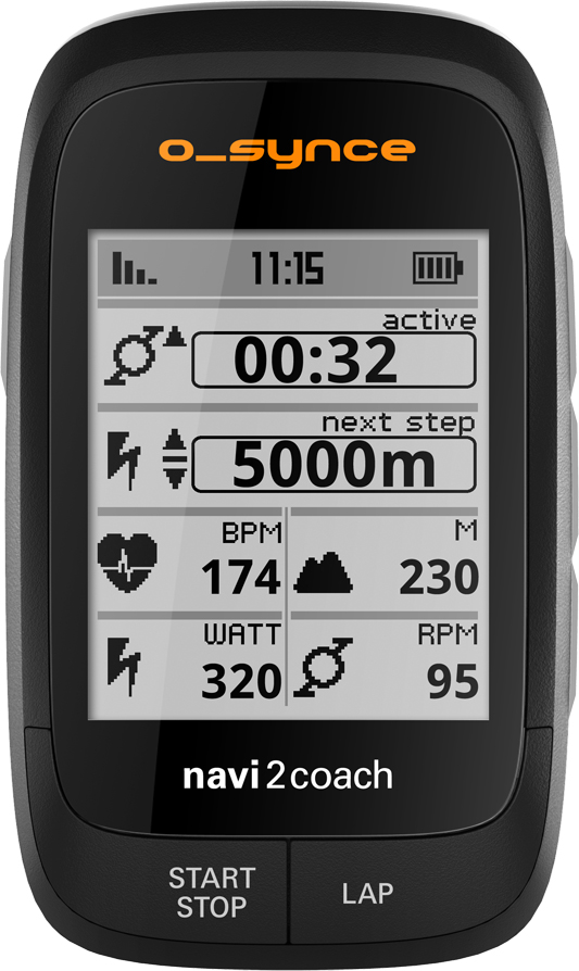 O Synce Navi2coach GPS Bicycle Computer