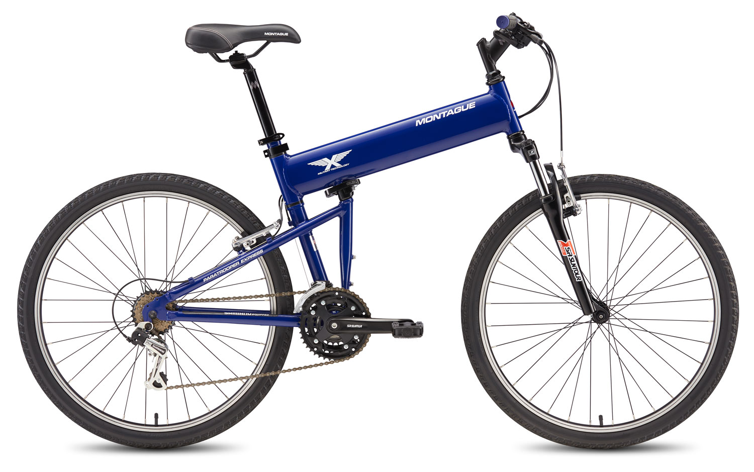 Electric Bicycles For Sale >> Montague Paratrooper Express 18 Speed Folding Mountain Bike
