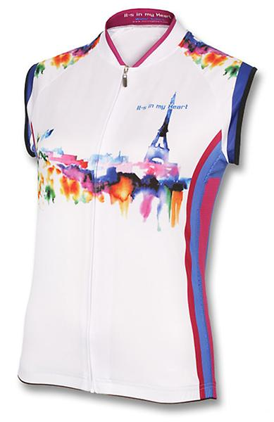 Its In My Heart Womens Paris Watercolor Sleeveless Jersey