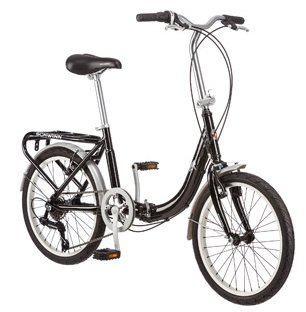 Schwinn Loop 7 Speed Folding Bike Black