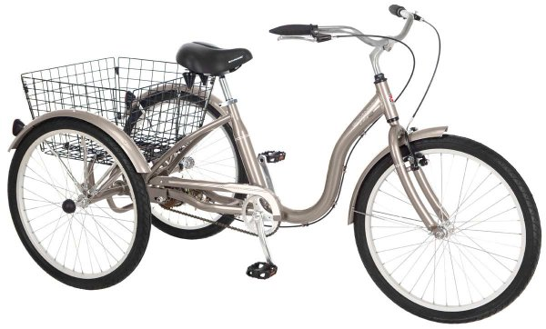 Schwinn Meridian 26 Single Speed Adult Tricycle Dark Silver