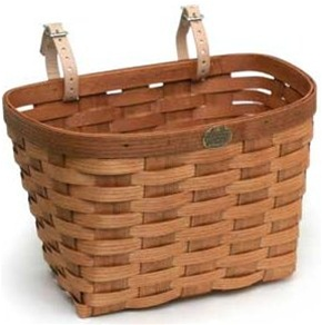 Peterboro Large Woven Ash Bicycle Basket