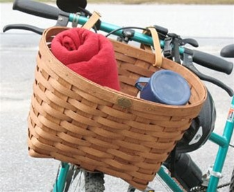 Peterboro Original Extra Large Woven Ash Bicycle Basket