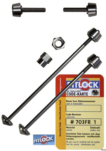 Pitlock Front Skewer & Rear Skewer & V Brake Security Locking System