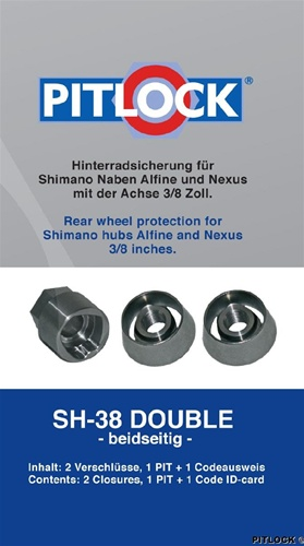 Pitlock Shimano Rear Wheel Solid Axle Set H38Double