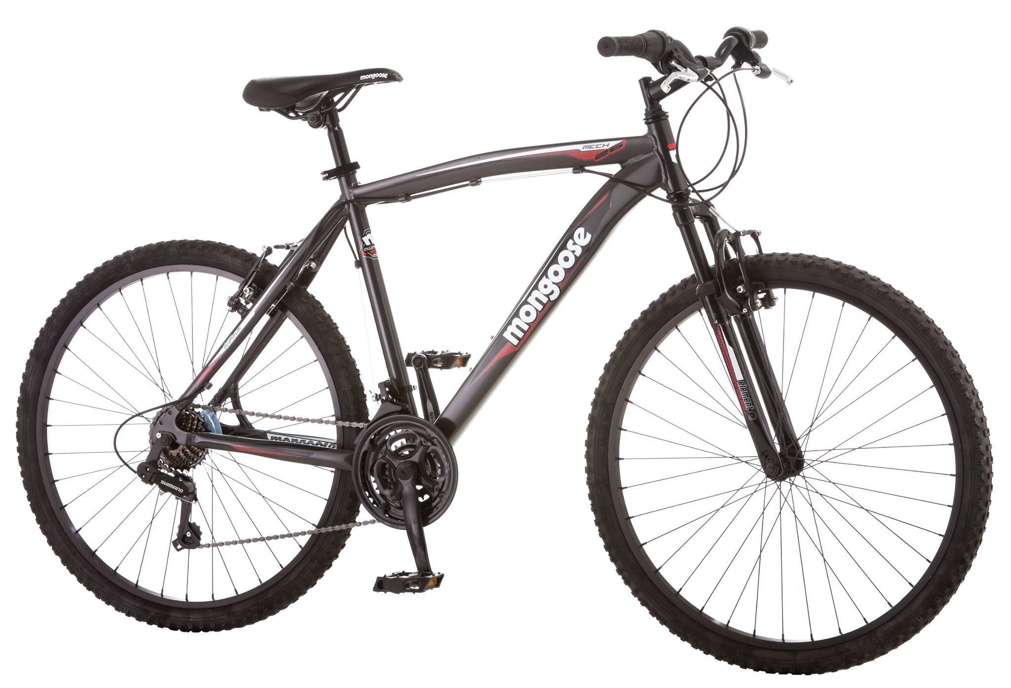 "Mongoose Mech 26"" Front Suspension 21 Speed Mountain Bike Men"