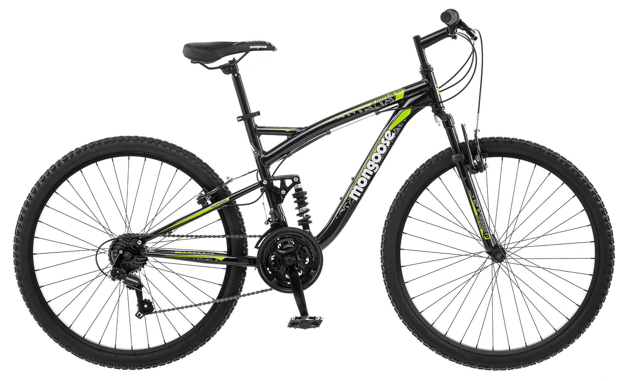Mongoose 29er Status 2.6 Men's Suspension 21 Speed Mountain Bike