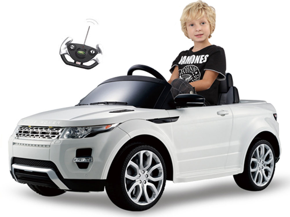 Rastar Land Rover Evoque 12v Ride On Toy Remote Controlled White