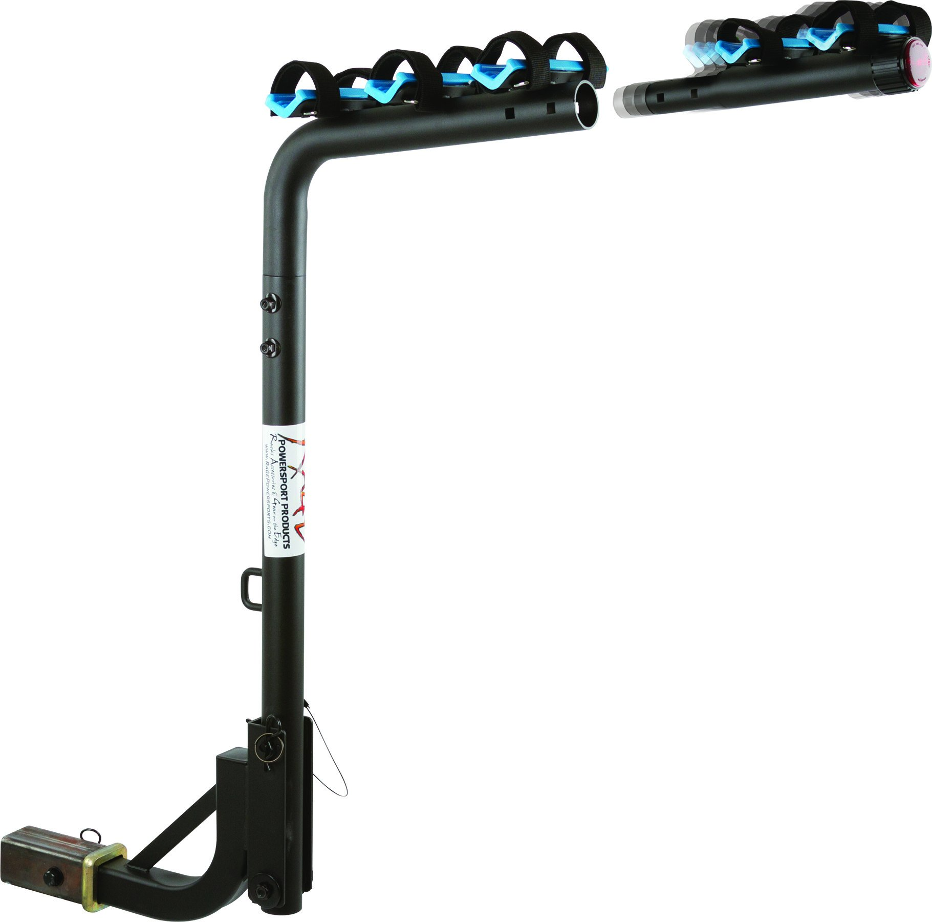 Rage Blue Devil 3 + 2 Bicycle Foldable Hitch Rack