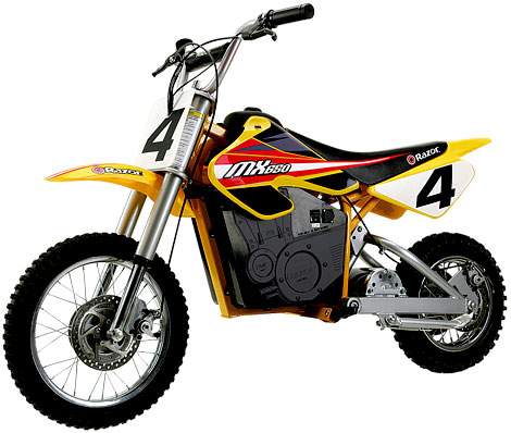 Razor Dirt Rocket MX 650 Replica Electric Powered Dirt Bike