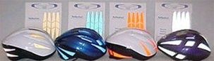 Reflective Bicycle Helmet Decals