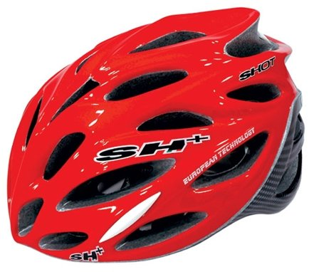 SH+ Shot Bicycle Helmet Red/Carbon