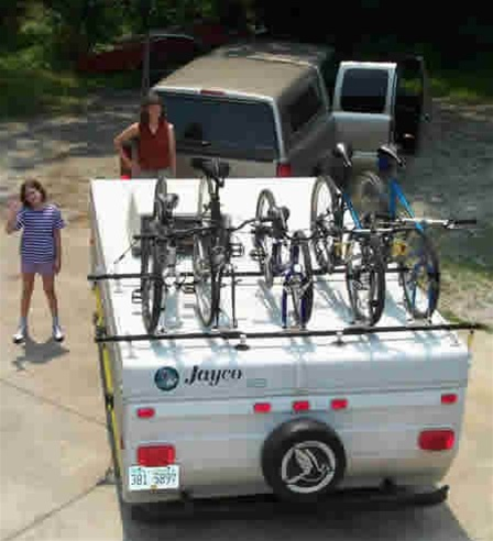 Renniks Pop up Camper Bike Rack