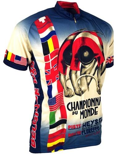 1935 World Championship Du Monde Retro Art Poster Jersey