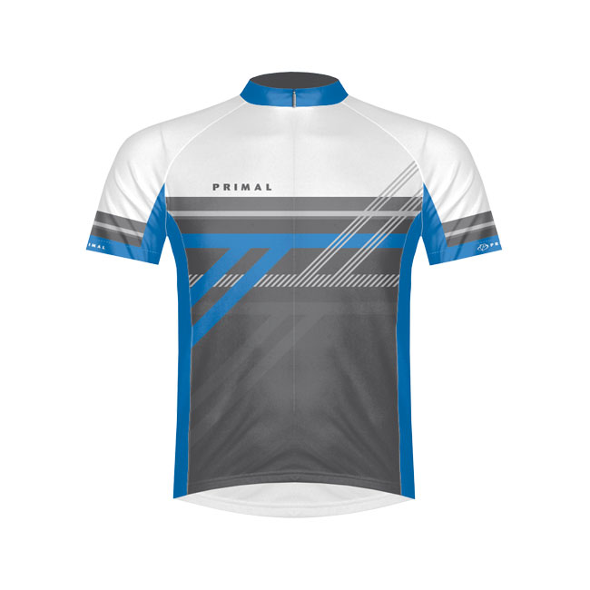 Primal Wear Reverb Blue Cycling Jersey Small