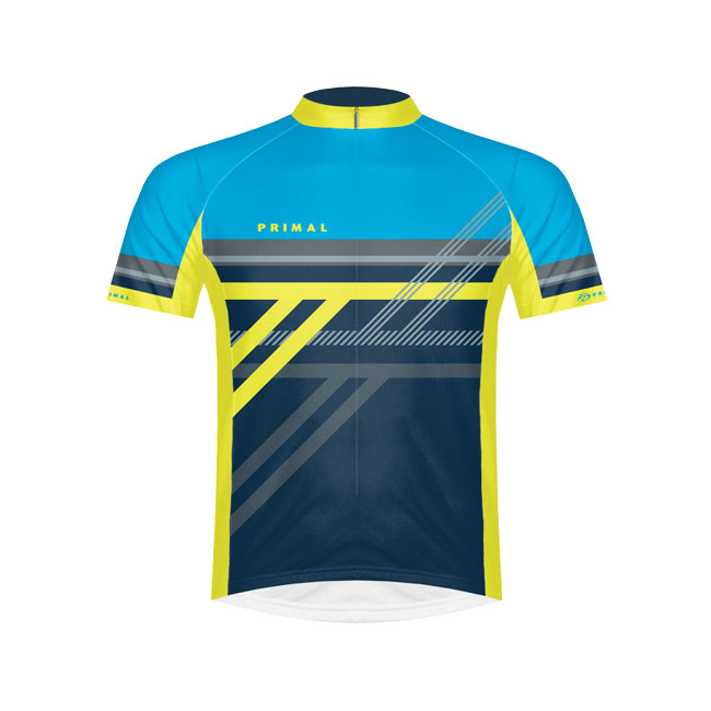 Primal Wear Reverb Light Blue Cycling Jersey Medium