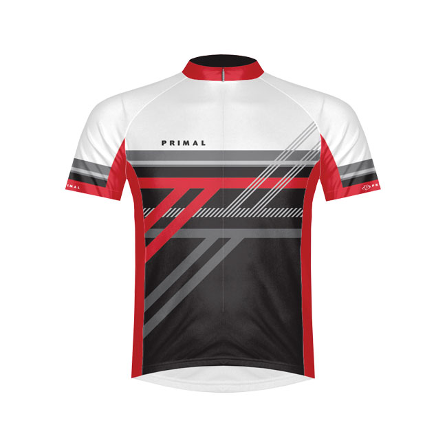 Primal Wear Reverb Red Cycling Jersey Medium