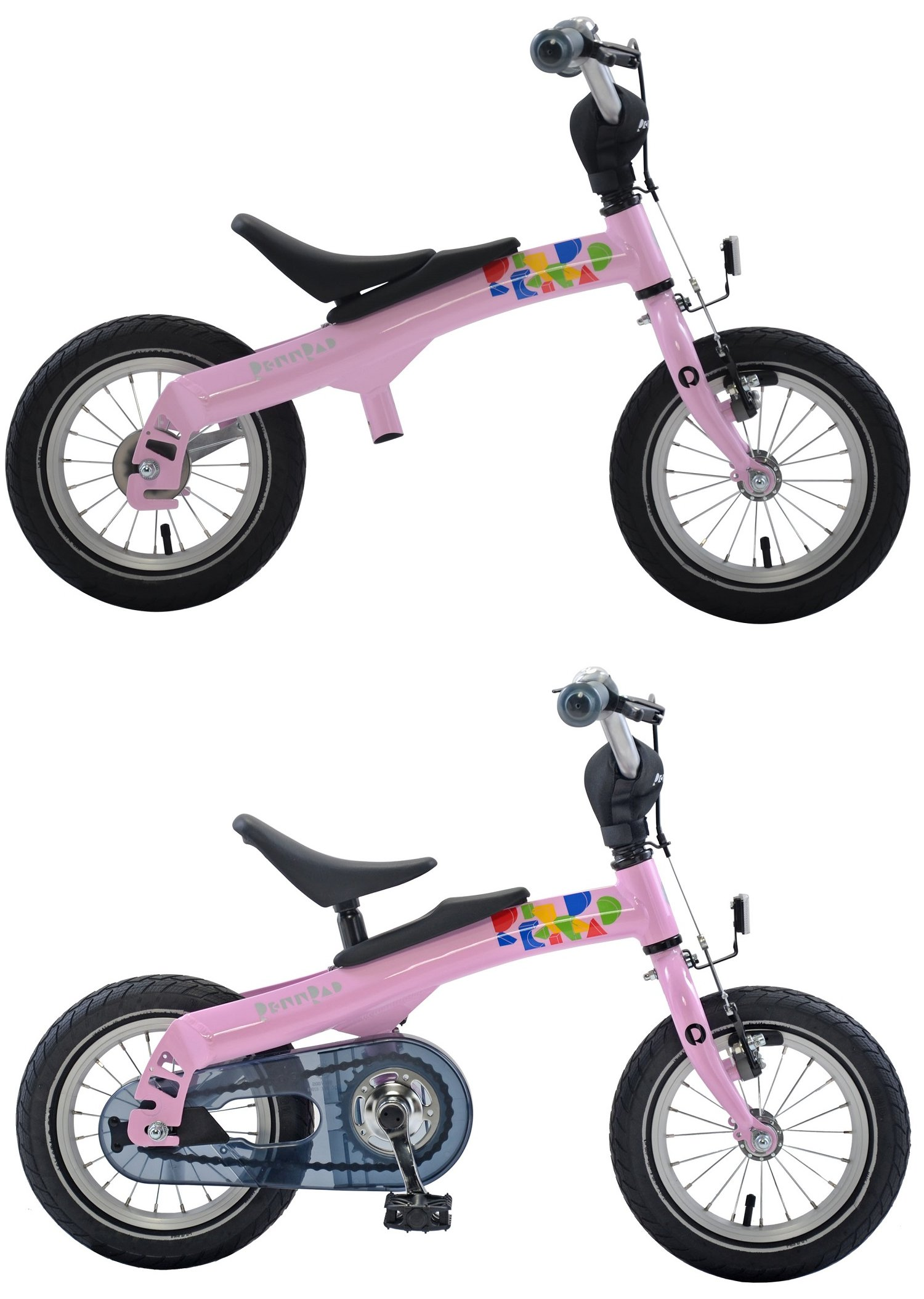 RENNRAD 12 Dual Mode Run Ride Bike Pink