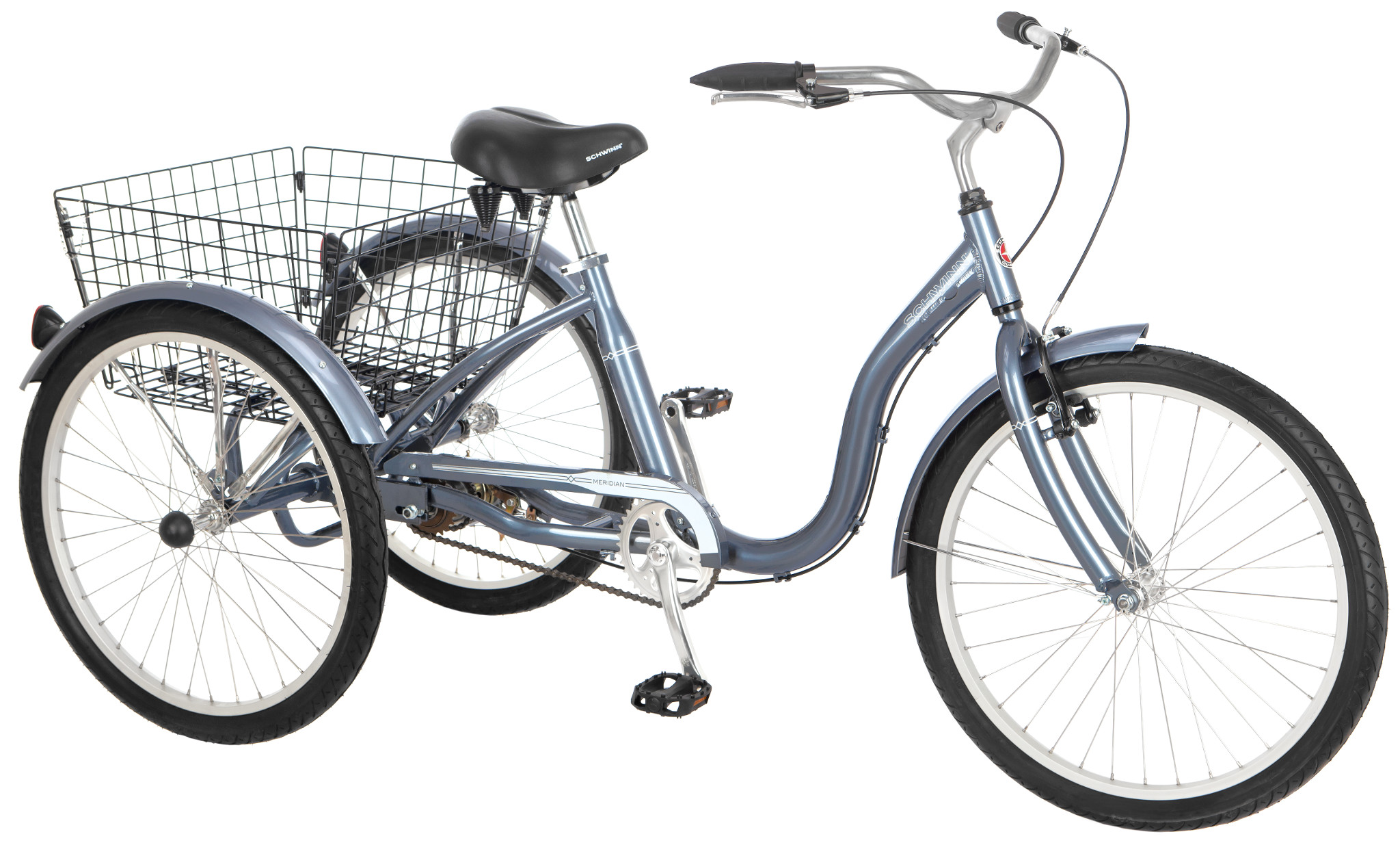 Schwinn Meridian 24 Single Speed Adult Tricycle Slate Blue