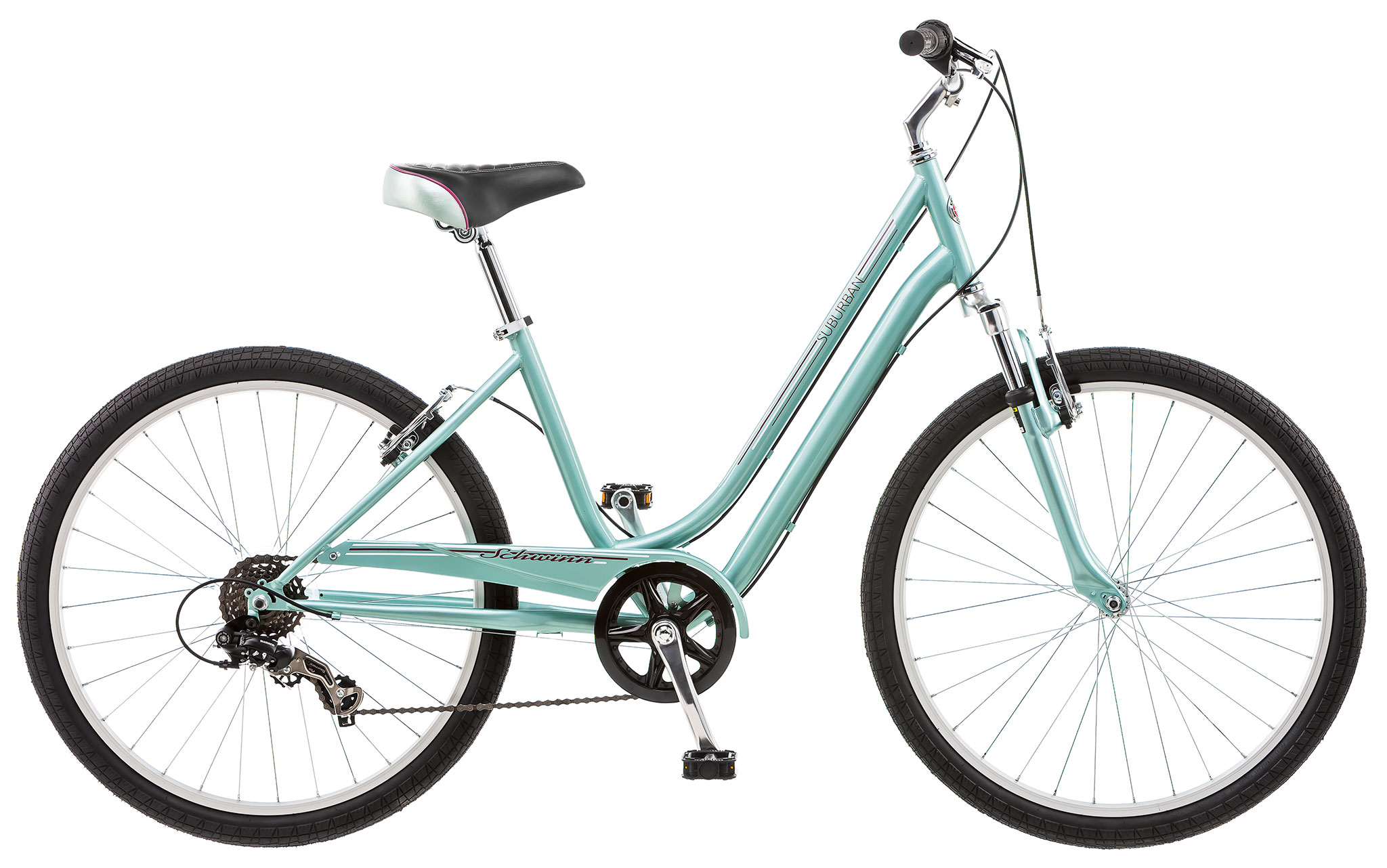 Schwinn Suburan 7 Speed Women's Comfort Bike Mint