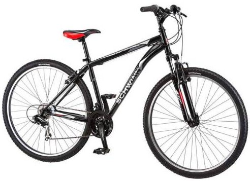 "Schwinn 29"" Men's ATB High Timber 21 Speed Bicycle Matte Black"