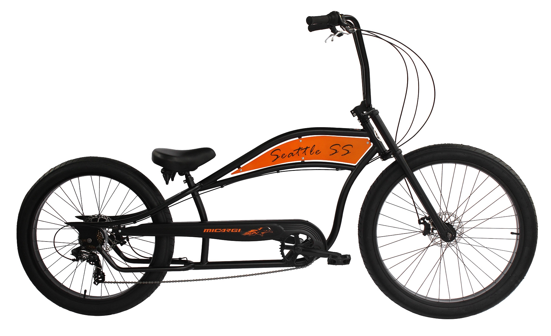 Micargi Seattle Ss Chopper Stretch Beach Cruiser Bike