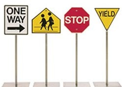 Silver Rider Childrens Traffic Signs