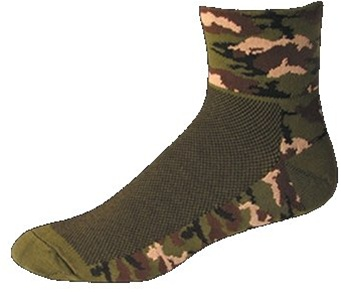 SOS Camo Jungle Green Cycling Socks