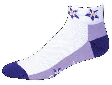 SOS Colorado Columbine Purple Majesty Cycling Socks