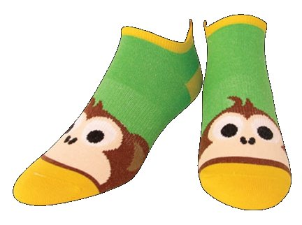 SOS Monkey Business Womens Cycling Socks by Hannah Green