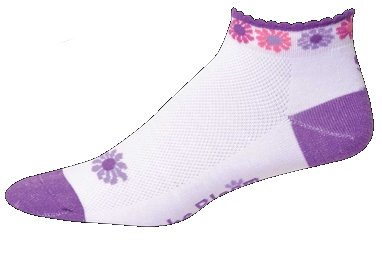 SOS The Bloom Purple Womens Cycling Socks