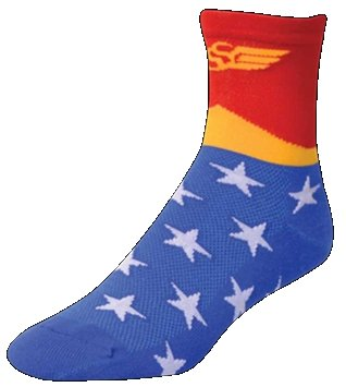 SOS WW3 Wonder Woman Cycling Socks