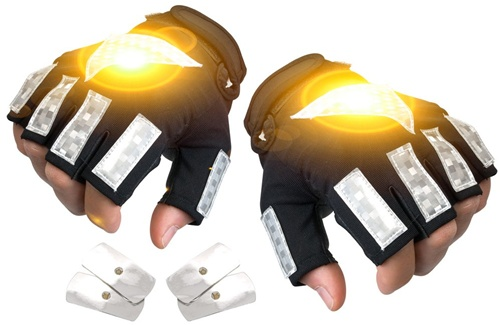 Brite Strike Illuminated Safety LED Bicycle Gloves