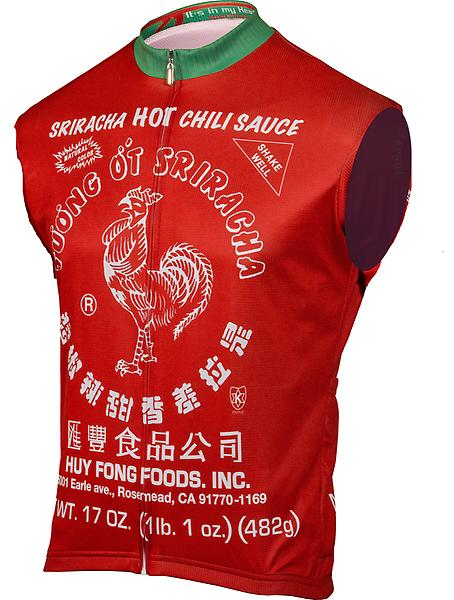 Its In My Heart Womens Sriracha Hot Chili Sauce Sleeveless Jersey