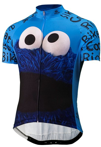 Brainstorm Gear Cookie Monster Cycling Jersey Sesame Street Large