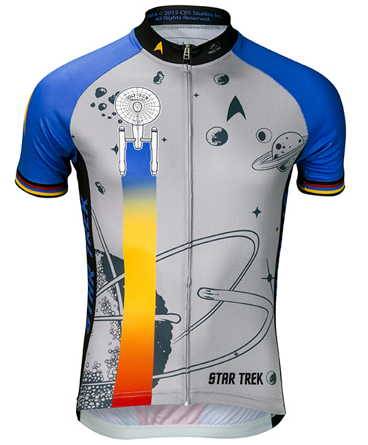 Star Trek Final Frontier Men's Cycling Jersey Blue Large
