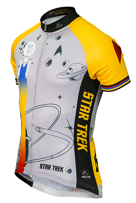Star Trek Final Frontier Women's Cycling Jersey Gold Large