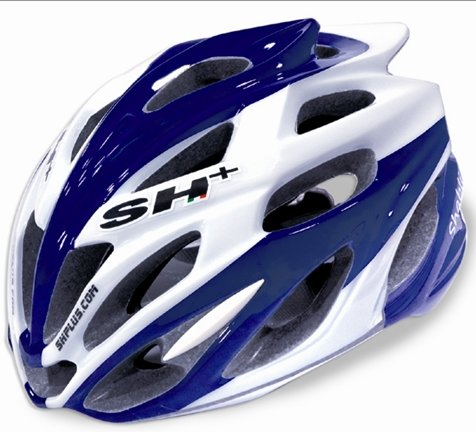 SH+ Shabli Bicycle Helmet White/Blue Stripes
