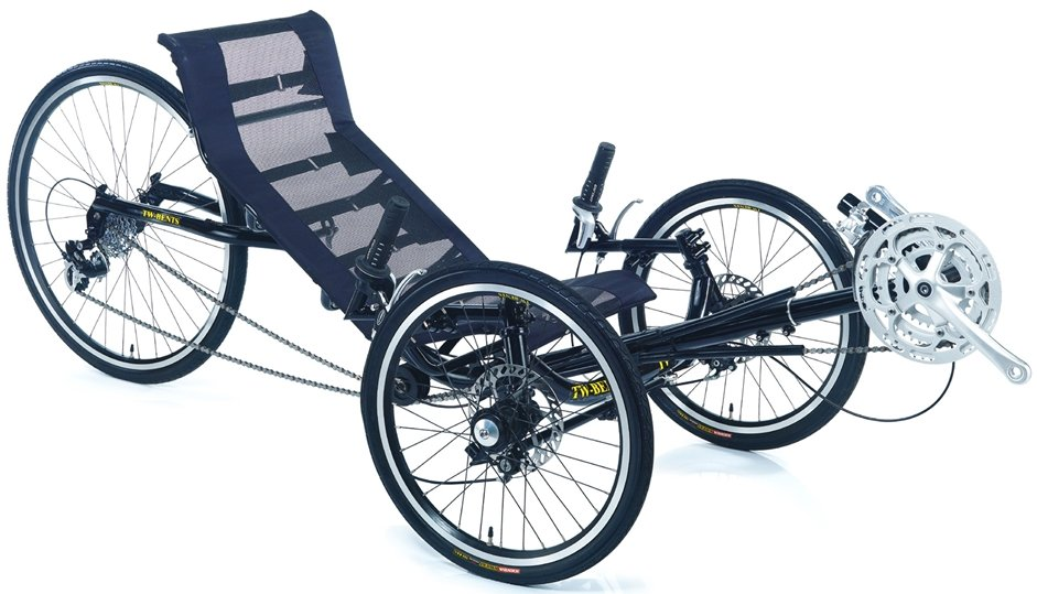 TW Bent Trident Recumbent 24 Speed Folding Tricycle