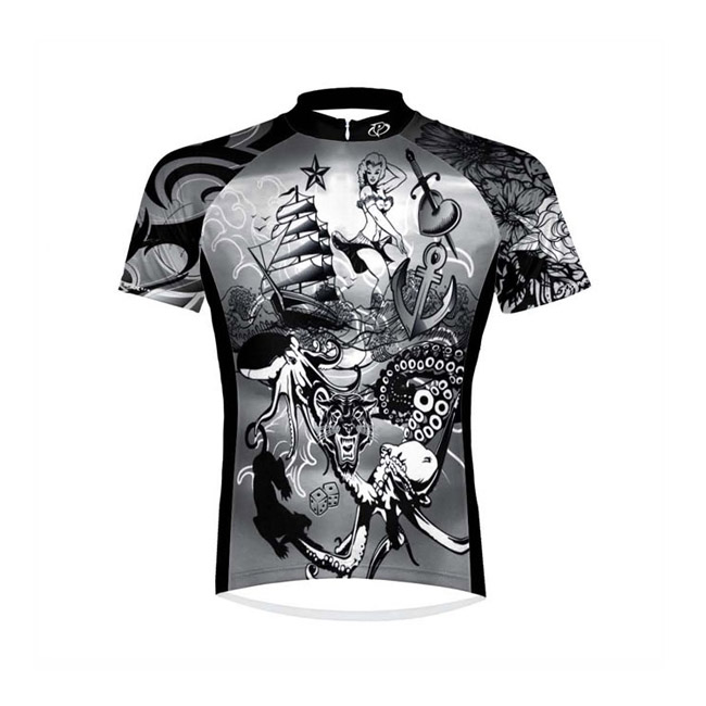 Primal Wear Tatood Mens Cycling Jersey Medium