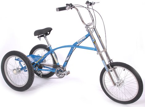 "Mission Triad Chopper 6 Speed Adult 20"" Tricycle"