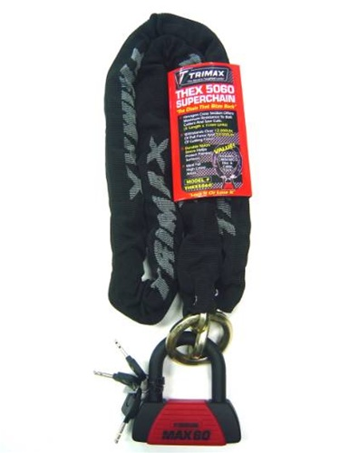 Trimax THEX5060 Super Chain and MAX60 U Lock
