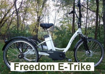 True Bicycles Freedom Electric Tricycle