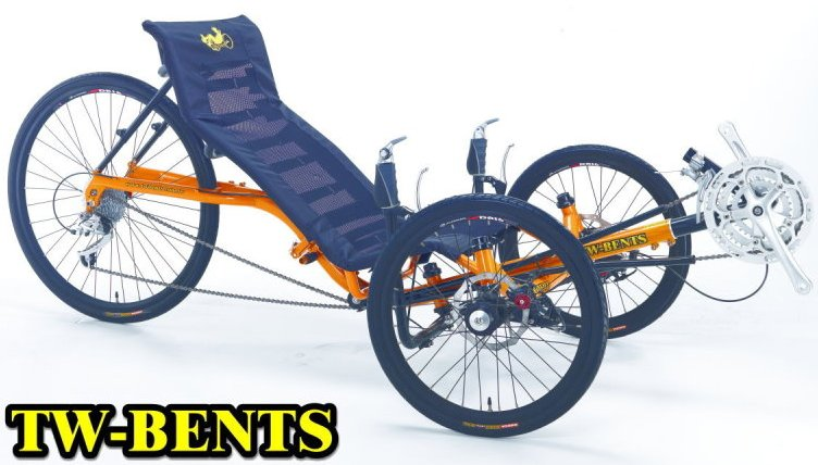 TW Bents 24 Speed Artifice Folding Tadpole Recumbent Speed Tricycle
