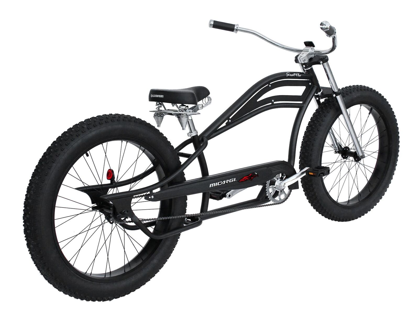 Micargi Seattle Fat Tire Chopper Stretch Beach Cruiser Bike