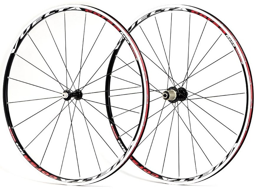 Vuelta Corsa Race 700c Black Clincher Wheelset 91011 Speed