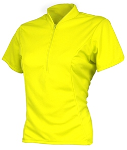 Adrenaline Womens Classic Cycling Jersey Neon Yellow Small