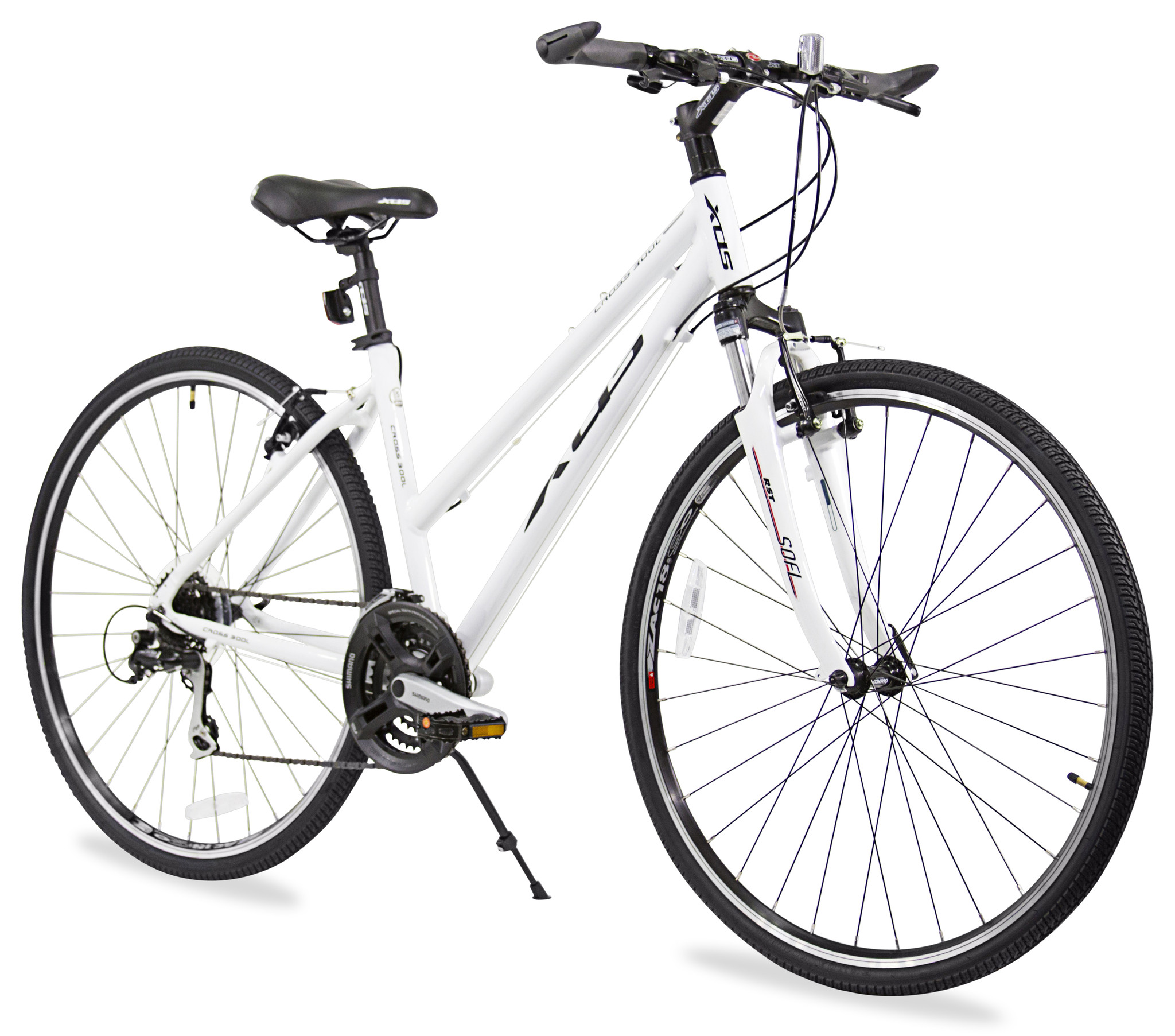 XDS Womens Cross 300 24 Speed Hybrid Suspension Bicycle