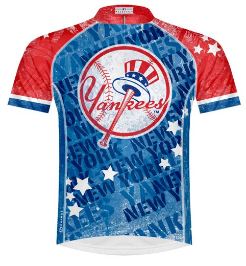 Primal Wear Yankees Vintage Mens Cycling Jersey Medium
